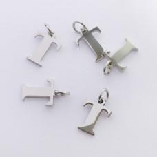 Zawieszka ze stali chirurgicznej literka T srebrna 8mm