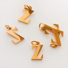 Zawieszka ze stali chirurgicznej literka Z złota 8mm