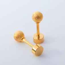 Kolczyki sztyfty kulki diamentowe ze stali chirurgicznej złote 4mm