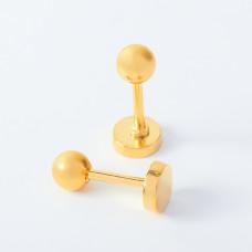 Kolczyki kulki ze stali chirurgicznej złote 4mm