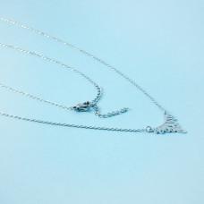 Naszyjnik z mini zawieszkami ze stali chirurgicznej ażur srebrny 40,5cm