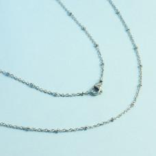 Łańcuszek ze stali chirurgicznej z oponkami srebrny 71cm