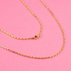 Łańcuszek ze stali chirurgicznej  prostokątne owale złoty 45,5cm