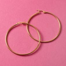 Kolczyki koła ze stali chirurgicznej złoty 60mm