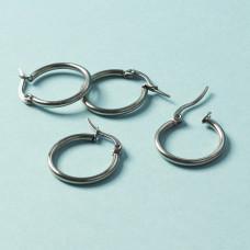 Kolczyki koła ze stali chirurgicznej srebrny 20mm