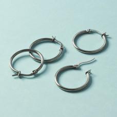 Kolczyki koła ze stali chirurgicznej srebrny 25mm