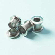 Tuleja rozkręcana ze stali chirurgicznej do drobnych koralików srebrny 13x11mm