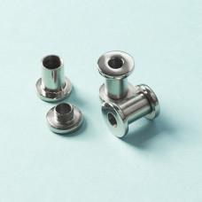 Tuleja rozkręcana ze stali chirurgicznej do drobnych koralików srebrny 13,8x7mm