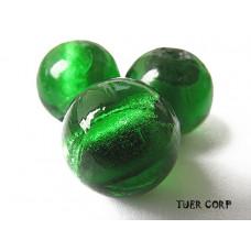 Szkło weneckie kulka zielona 14mm