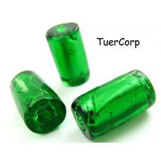 Szkło weneckie walec zielony 20mm