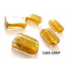 Szkło weneckie prostokąt złoty 12x18mm