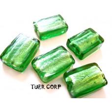 Szkło weneckie prostokąt zielony 12x18mm
