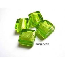 Szkło weneckie kwadrat soczysta zieleń 12mm
