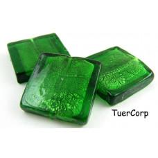 Szkło weneckie kwadrat zielony 25mm