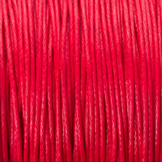 Sznurek bawełniany woskowany czerwony 1mm