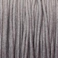 Sznurek bawełniany woskowany szary 2mm