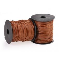 Sznurek bawełniany woskowany jasny brąz 1,5mm