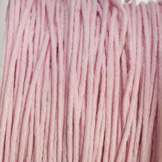 Sznurek bawełniany woskowany jasno różowy 1mm