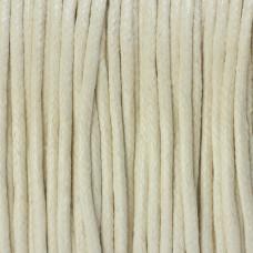 Sznurek bawełniany woskowany ecru 2mm