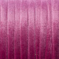 Sznurek welurowy różowy 1.5x6mm