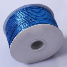 Sznurek do sutaszu chiński metallic blue 2.5mm