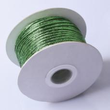 Sznurek do sutaszu chiński metallic silver green  2.5mm