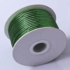 Sznurek do sutaszu chiński metallic green 2.5mm