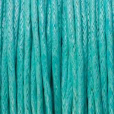 Sznurek bawełniany woskowany miętowy 1mm