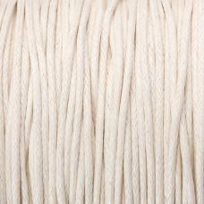 Sznurek bawełniany woskowany 1mm ecru