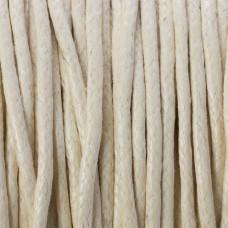 Sznurek bawełniany woskowany ecru 1,5mm