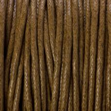 Sznurek bawełniany woskowany brązowy 1,5mm