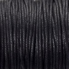 Sznurek bawełniany woskowany czarny 1,5mm