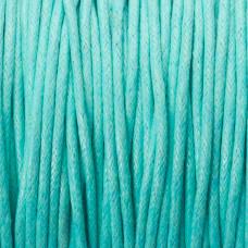 Sznurek bawełniany woskowany 1.5mm turkusowy