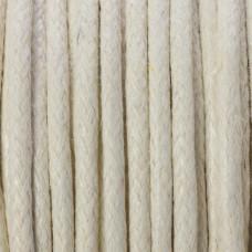 Sznurek bawełniany woskowany biały  2mm