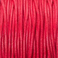 Sznurek bawełniany woskowany czerwony 2mm