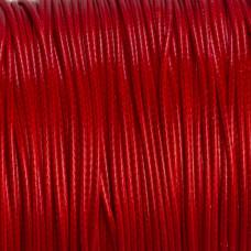 Sznurek powlekany czerwony 1mm