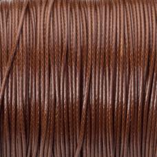 Sznurek powlekany brązowy 1mm