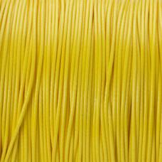 Sznurek powlekany żółty 1mm