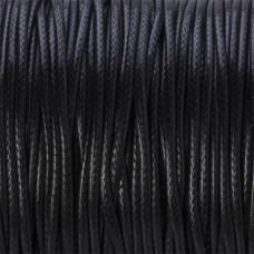 Sznurek powlekany czarny 1,5mm