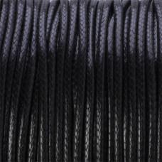 Sznurek powlekany czarny 2mm