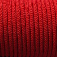 Sznurek pleciony 5mm czerwony