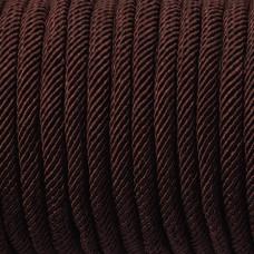 Sznurek pleciony 5mm brązowy