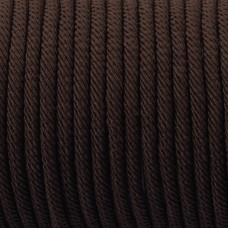 Sznurek pleciony 4mm brązowy matowy