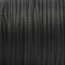 Sznurek pleciony czarny 2mm