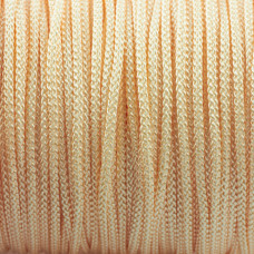 Sznurek pleciony kremowy 1,5mm