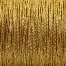 Sznurek pleciony złoty 1mm
