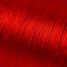 Sznurek gorsetowy czerwony 2mm