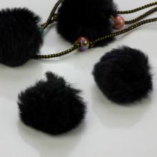 Pompon czarny 50mm