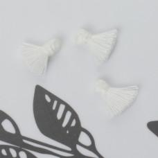 Mini chwost bawełniany biały 10-15mm