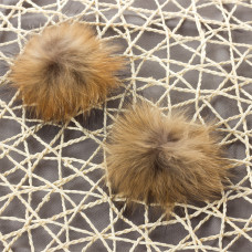 Pompon brązowy 8cm